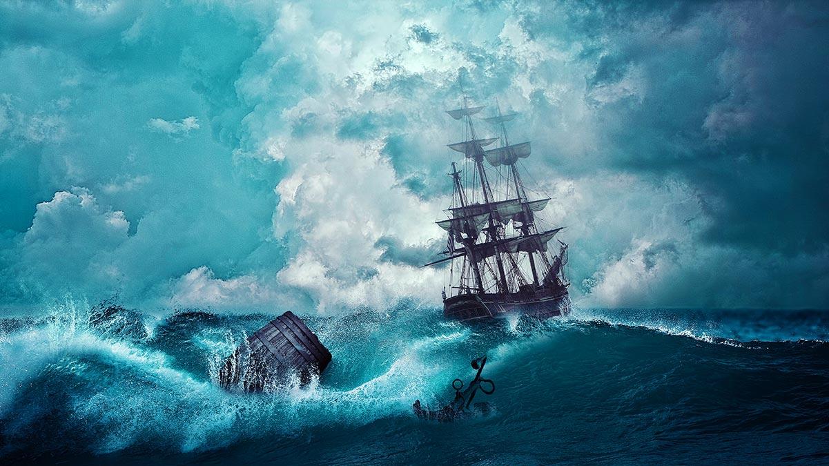 Barca - Mare in tempesta